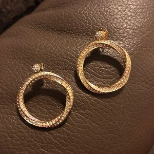 Nadri pave earrings